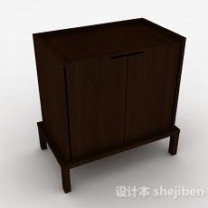 棕色现代风格双门储物柜3d模型下载