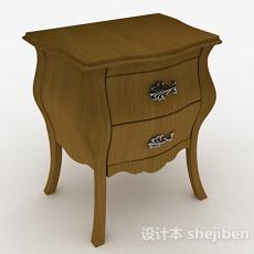 欧式棕色床头柜3d模型下载
