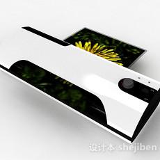 现代风格白色打印机3d模型下载