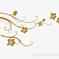 现代风格黄色墙纸3d模型下载