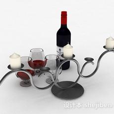 红酒展示3d模型下载