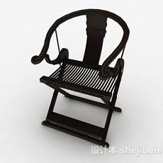 中式黑色家居椅3d模型下载
