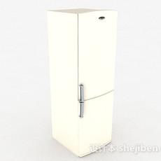 现代白色冰箱3d模型下载