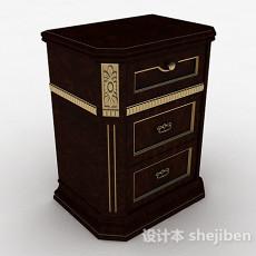 欧式古典床头柜3d模型下载