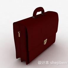 枣红色公文包3d模型下载