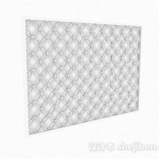现代风格白色镂空窗户3d模型下载