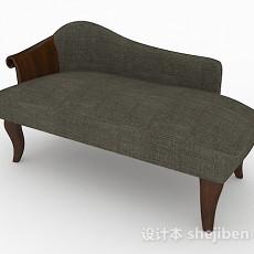 灰色欧式双人沙发3d模型下载