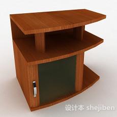 浅棕色木质扇形展示柜3d模型下载