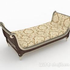 欧式风格双人沙发3d模型下载