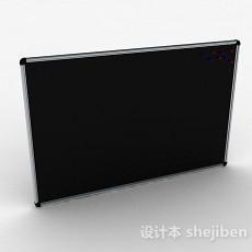 黑色方形黑板3d模型下载