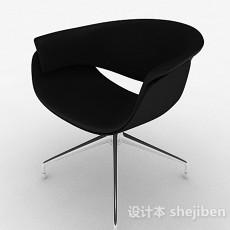 现代时尚黑色家居椅3d模型下载