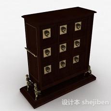 欧式金属雕刻储物柜3d模型下载