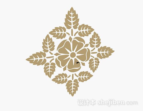 浅木色花卉墙纸