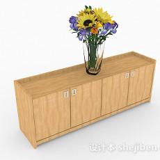 黄色简约鞋柜3d模型下载