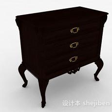 欧式木质床头柜3d模型下载