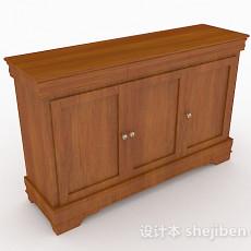 棕色木质家居玄关柜3d模型下载