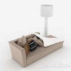 现代风格灰色单人沙发3d模型下载