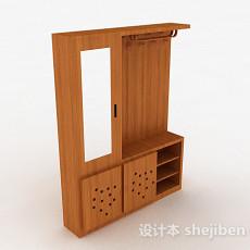 浅木色木质衣柜3d模型下载