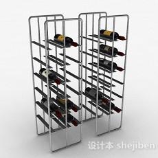 灰色金属红酒架3d模型下载