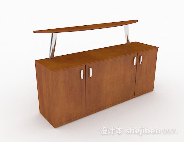 现代简约木质玄关柜