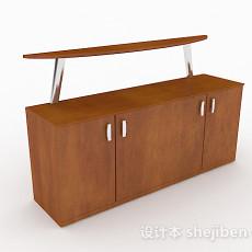 现代简约木质玄关柜3d模型下载