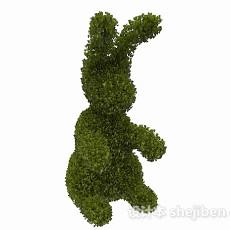 兔子造型公园植卉3d模型下载