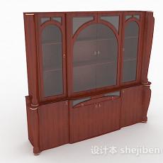 木质家居书柜3d模型下载