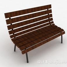 棕色公园椅3d模型下载