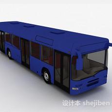 现代风深蓝色巴士车3d模型下载