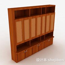 浅棕色多门多层衣柜3d模型下载