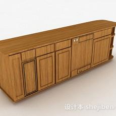 现代风格浅棕色电视柜3d模型下载