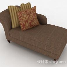 单人布艺沙发3d模型下载