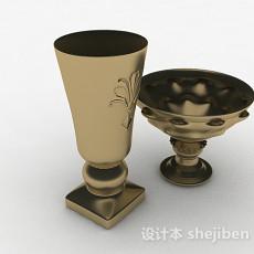 金属家用杯具3d模型下载