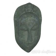 石质人脸面具3d模型下载