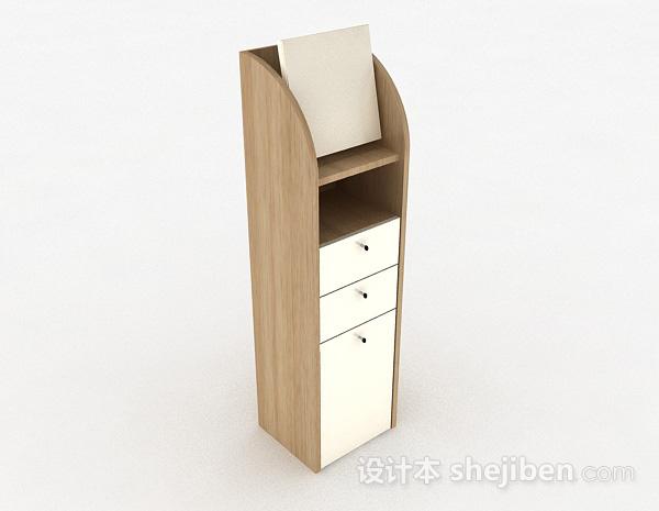 浅木色多层储物柜