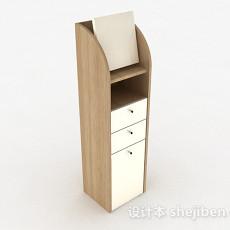 浅木色多层储物柜3d模型下载