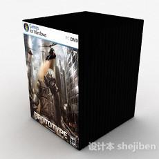 游戏DVD光盘套装3d模型下载