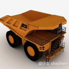 黄色四轮货车3d模型下载