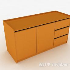 黄色家居玄关柜3d模型下载