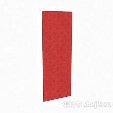 红色床头软包3d模型下载