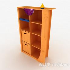 黄色家居收纳柜3d模型下载