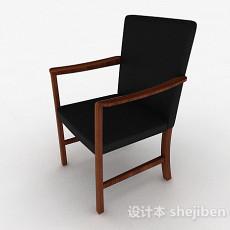 黑色布艺单人家居椅3d模型下载