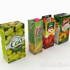 盒装果汁3d模型下载
