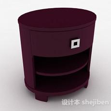 紫色家居床头柜3d模型下载