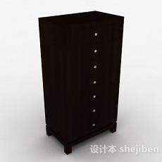现代风格黑色多彩储物柜3d模型下载