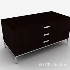 黑色木质电视柜3d模型下载