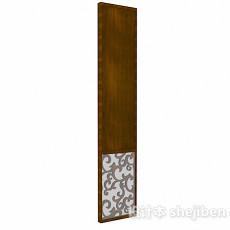 单面木质屏风3d模型下载