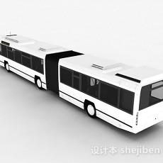 白色巴士车3d模型下载