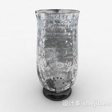 银色玻璃瓶3d模型下载