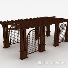 户外园林花架3d模型下载